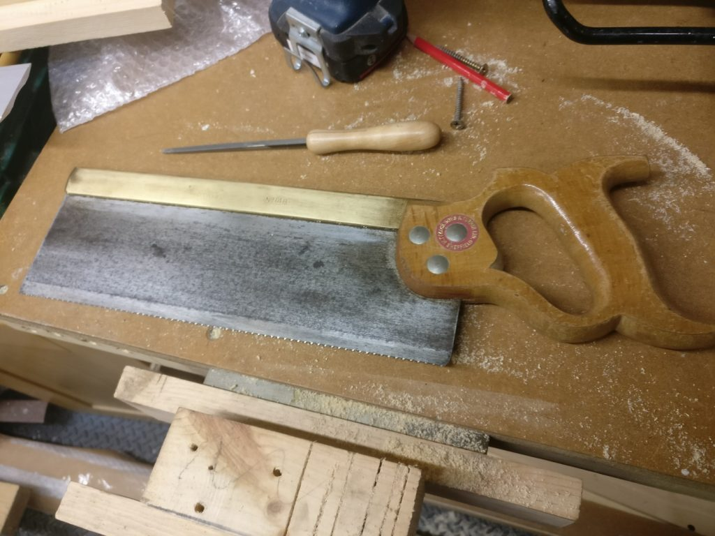 An old Tyzack Turner tenon saw that has been somewhat restored